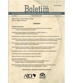 BOLETIM DA SOCIEDADE BRASILEIRA DE DIREITO INTERNACIONAL